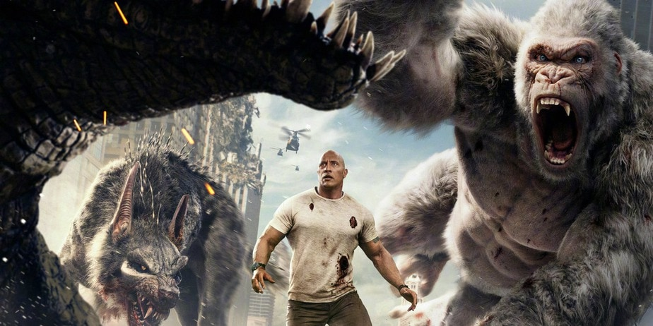 Rampage Chinese Poster With Dwayne Johnson